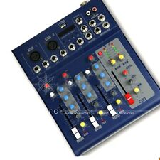 New F4 Quality 4 Channel Mini Sound Audio Live Mixer USB Display With Wire Pack