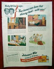 VINTAGE AD FROM 1945 SATURDAY EVENING POST - JOHNSON'S WAX
