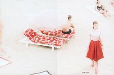 Adorable and Chic Prada white/red floral print skirt as in ad campaign SS 2001!