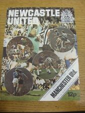 20/03/1976 Newcastle United v Manchester United  (folded, team changes). Footy P