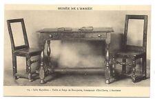 paris ,musée de l'armée  ,salle napoléon ,table et siège de bonaparte