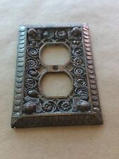 Vintage Brass Ornate Heavy Thick Light Switch Plate Cover Brass-Gothic-Victorian