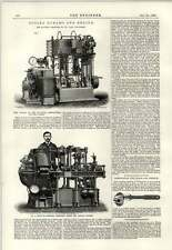 1889 Duplex Dynamo And Machine Compound Triplex Sautter Lemonnier Cie Paris