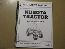Kubota M8200 DTN -B tractor owners & maintenance manual