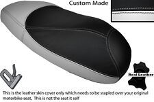 WHITE & BLACK CUSTOM FITS HONDA X8R X8RS 50 DUAL LEATHER SEAT COVER ONLY