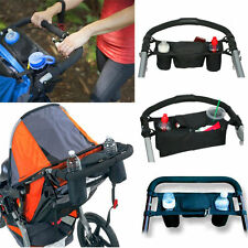 UNIVERSAL BABY Pram STORAGE BAG With CUP HOLDER For BUGGY STROLLER PUSHCHAIR