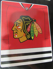 NHL NWT ROYAL PLUSH RASCHEL THROW BLANKET JERSEY DESIGN - CHICAGO BLACKHAWKS