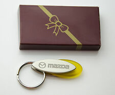 Personalised MAZDA Design keyring BOXED engraved Free - Metal KEYRING