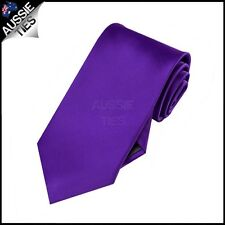 BOYS AMETHYST PURPLE TIE necktie wedding childrens kids violet microfibre