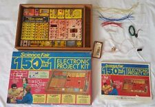 Vintage 1976 Science Fair 150 In 1 Electronic Project Kit With Box And Manual