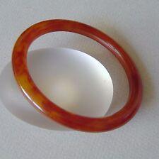 ancien bracelet jonc BAKÉLITE couleur ambre marbré (TEST+) amber BAKELITE bangle