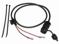 "12V Motorcycle Accessory Power Socket 100cm (39"") Cable - Blade Fused - Easy Fit"