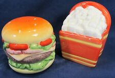 Burger And Fries Ceramic Salt & Pepper Shakers table ware decor