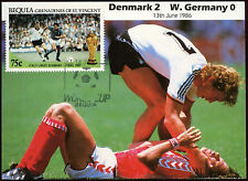 Football Maxicard 1986, Denmark V W. Germany, Handstamped #C26403