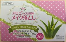 Daiso Japan Aloe Makeup Remover Cleansing Towelettes Tissue Towel Paper Wipes
