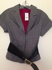 NWT Juniors / Womans Express Size 2 Belted Short Sleeve Blazer Jacket