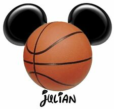 DISNEY MICKEY MOUSE BASKETBALL PERSONALIZED T-SHIRT IRON ON TRANSFER