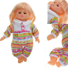 Lovely Speaking Doll PP Cotton+Vinyl Silicone Life-like Baby Girls Doll Toy New