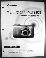Canon Powershot SD1300 IS IXUS 105  Digital Camera User Guide Manual