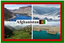 AFGHANISTAN - SOUVENIR NEUHEIT KÜHLSCHRANK-MAGNET - FLAGGEN / SEHENSWÜRDIGKEITEN