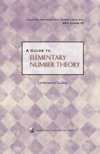 A Guide To Elementary Number Theory (Dolciani Mathematical Expositions-ExLibrary