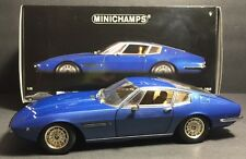 1/18 Minichamps 1969 Maserati Ghibli Blue W/ Tan Interior