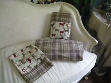 COUNTRY PLAID CANNON* DEERS* FLANNEL TWIN SHEET SET  #183