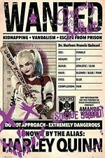 Suicide Squad Wanted Harley Quinn Poster Margot Robbie Print Wall Art Large Maxi