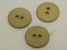 25 NEW 3/4 INCH  KHAKI TAN DULL/MATTE FINISH BUTTONS # 261CD29 -25