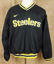 PITTSBURGH STEELERS~NFL~Pro Line~Reebok~Sz L~Lined~LS~Pull Over~Stitched Jacket