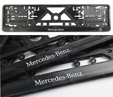 2PCS Mercedes-Benz FRAME EURO for LICENSE PLATE PLATES Mercedes-Benz Logo NEW