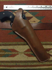 "Ruger Super Blackhawk 7 1/2"" Dual Two Position Brown Leather Holster Cross Draw"