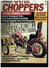 MCW SPECIAL CHOPPERS SEPTEMBER 1973 BIG DADDY ROTH TALKS CUSTOM STREET CHOPPERS