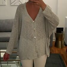 EMMA AND ASH GREY LOOSE SHIRT WITH BUTTONS, SIZE M