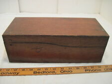 OLD WOOD-WOODEN DOVETAIL RECIPE CARD INDEX FILE BOX INDEX CARD BOX