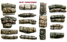 1/35 Scale resin kit Tents & Tarps Set  #2 Military model stowage