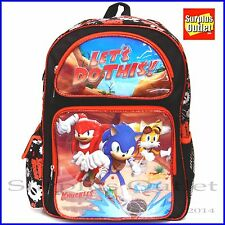 "Sonic The Hedgehog 16"" Large School Backpack Book Bag"