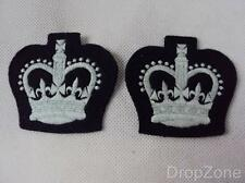 Pair of British Military Air Training Corps ATC WO Crown Badges / Patches