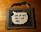 WHEN YOU CANT SLEEP COUNT SHEEP Primitive Style Country Farm Home Decor Sign NEW
