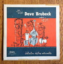 "DAVE BRUBECK 10"" LP ""Distinctive Rhythm"" '49 orig FANTASY #3-1 red wax ~ NICE!"