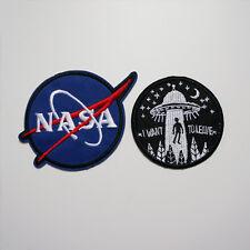 2 x Patch Ecusson NASA UFO écusson Thermocollant Chapeau SAC Applique DIY