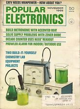 Popular Electronics * Nov 1968 * Chemistry Lab Equipment Projects * Vintage
