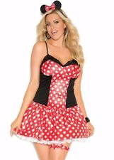 Minnie Mouse Sexy Costume 1X/2X Women Plus Cosplay Halloween Polka Dot Disney