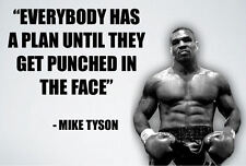 "Framed Print - Iron Mike Tyson ""Punched In The Face"" (Picture Poster Boxing Art)"