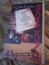 BON JOVI Live From London VHS PAL UK Video cassette tape POST FREE