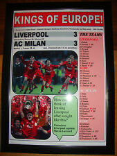 Liverpool 3 AC Milan 3 - 2005 Champions League final - framed print