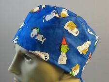 Medical_Surgical_ scrub hat_charlie brown_snoopy_lucy_more_Halloween-unisex_ties