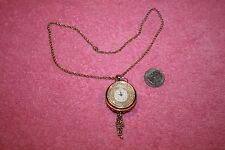 Vintage Swiss Norman Pendant Watch Gold-tone Metal 17.5""