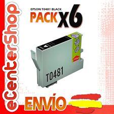 6 Cartuchos de Tinta Negra 0481 NON-OEM Epson Stylus Photo RX600