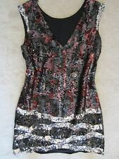 WOMENS BCBG MAXAZRIA STUNNING SEQUINED SPARKLE SLEEVELESS DRESS XS $600 GORGEOUS